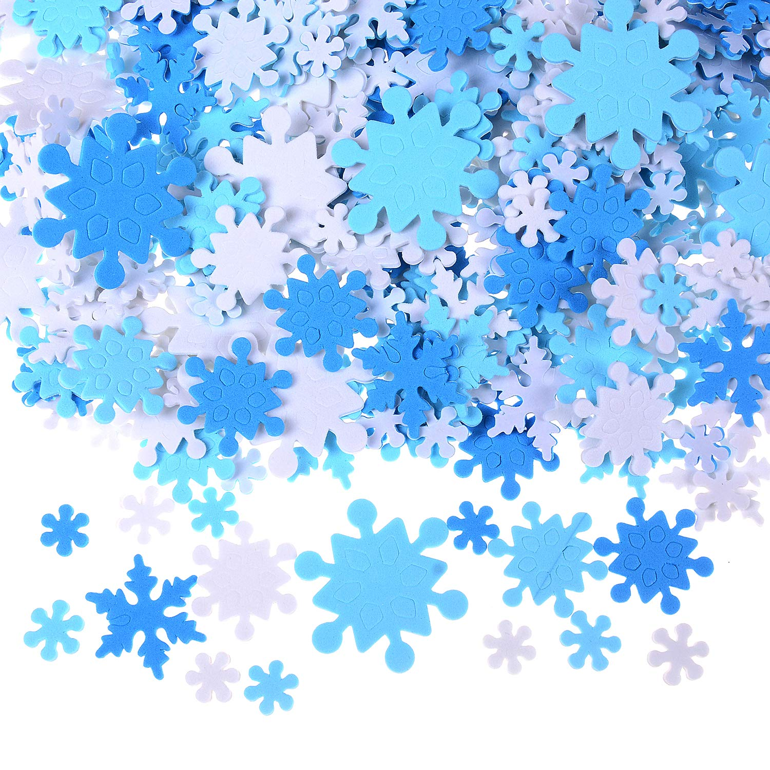 600 Pieces Mini Foam Snowflake Stickers, Self-Adhesive Snowflake Stickers Decals for Christmas Decoration Energy day Moment