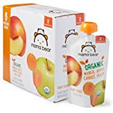 Amazon Brand - Mama Bear Organic Baby Food, Stage 2, Mango Apple Carrot Peach, 4 Ounce Pouch (Pack of 12)