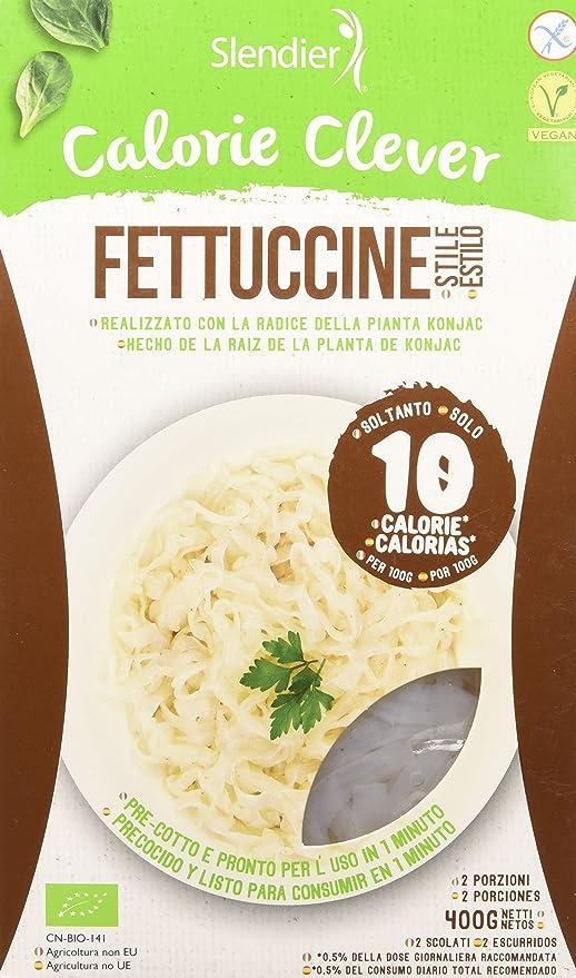 Slendier Pasta Konjac Fettuccine - 3 Paquetes de 400 gr - Total: 1200 gr: Amazon.es: Alimentación y bebidas