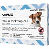 Amazon Brand - Solimo Flea and Tick Topical Treatment for Dogs, For Medium Dogs (23-44 pounds)