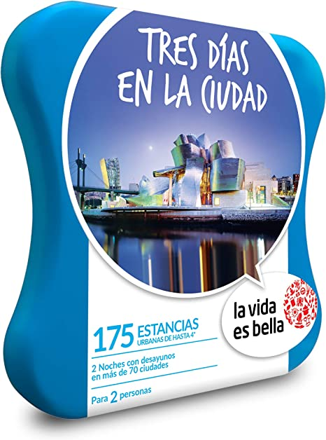 LA VIDA ES BELLA - Caja Regalo - Tres DÍAS EN LA Ciudad - 175 hoteles urbanos de hasta 4* en más de 70 Ciudades de Europa: Amazon.es: Deportes y aire libre