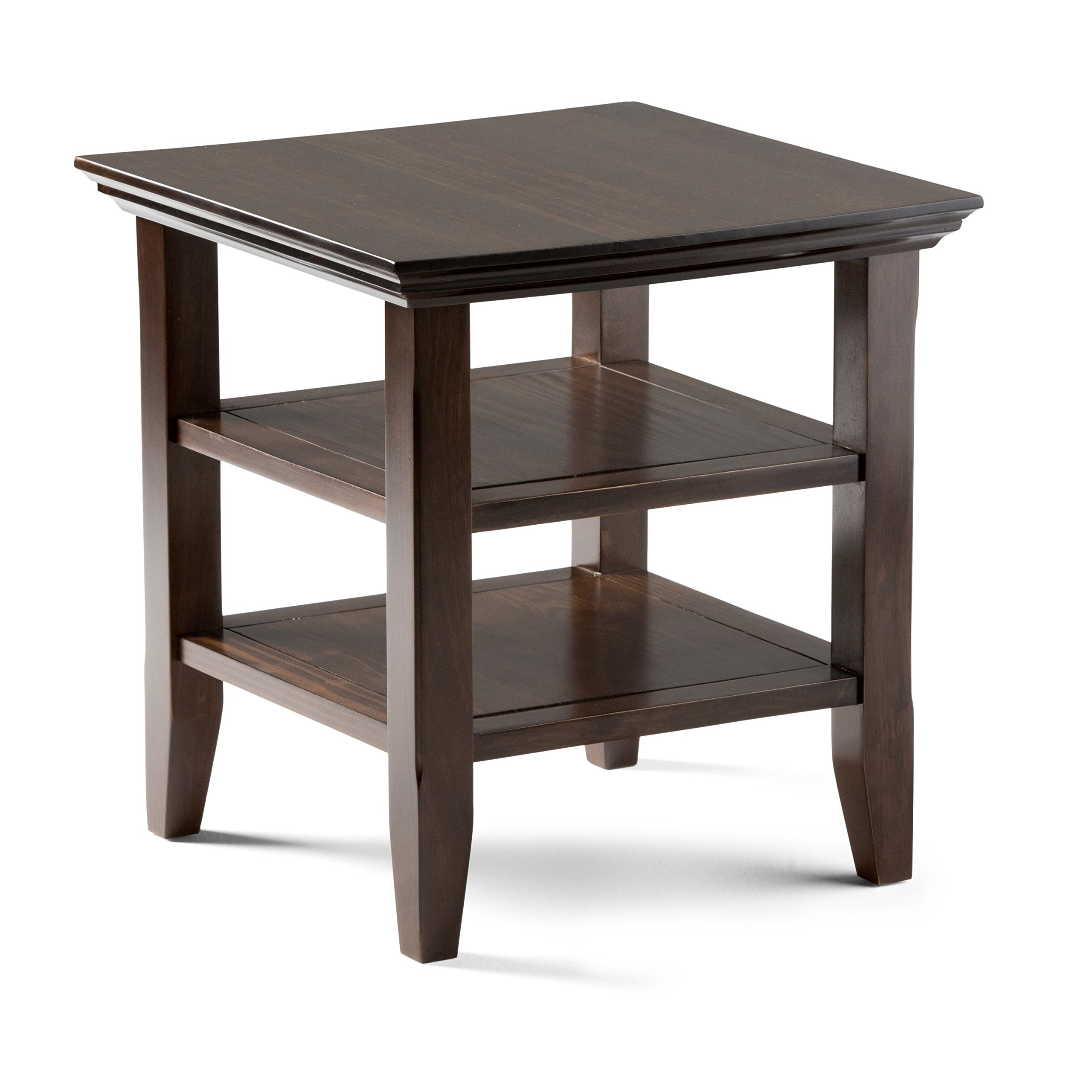 Simpli Home Acadian Solid Wood End Table, Rich Tobacco Brown by Simpli Home (Image #1)
