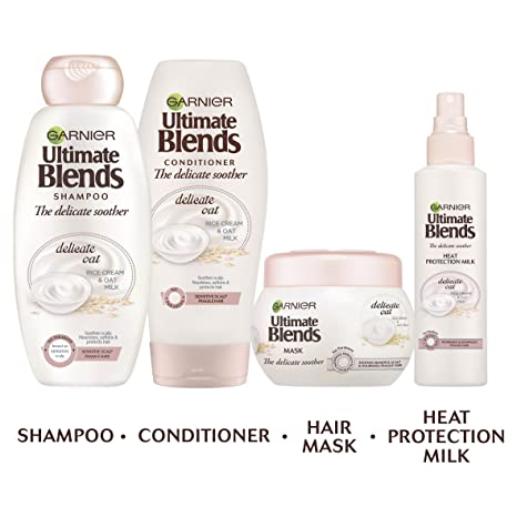 Mascarilla de cabello Garnier Ultimate Blends de leche de avena para cuero cabelludo sensible, 300 ml: Amazon.es: Belleza