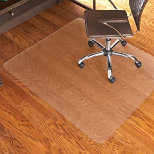 "ES Robbins Everlife 60"" x 72"" Multitask Series Hard Floor Rectangle Chairmat, Clear"