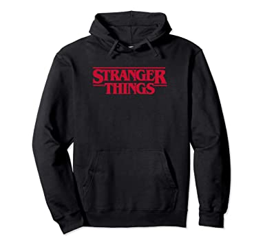 d52a29f67758 Amazon.com: Netflix Stranger Things Logo Hoodie: Clothing