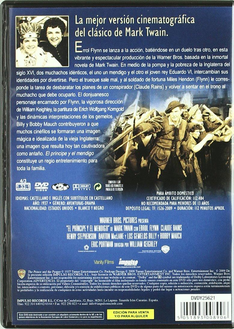 El Príncipe Y El Mendigo [DVD]: Amazon.es: Varios: Cine y Series TV