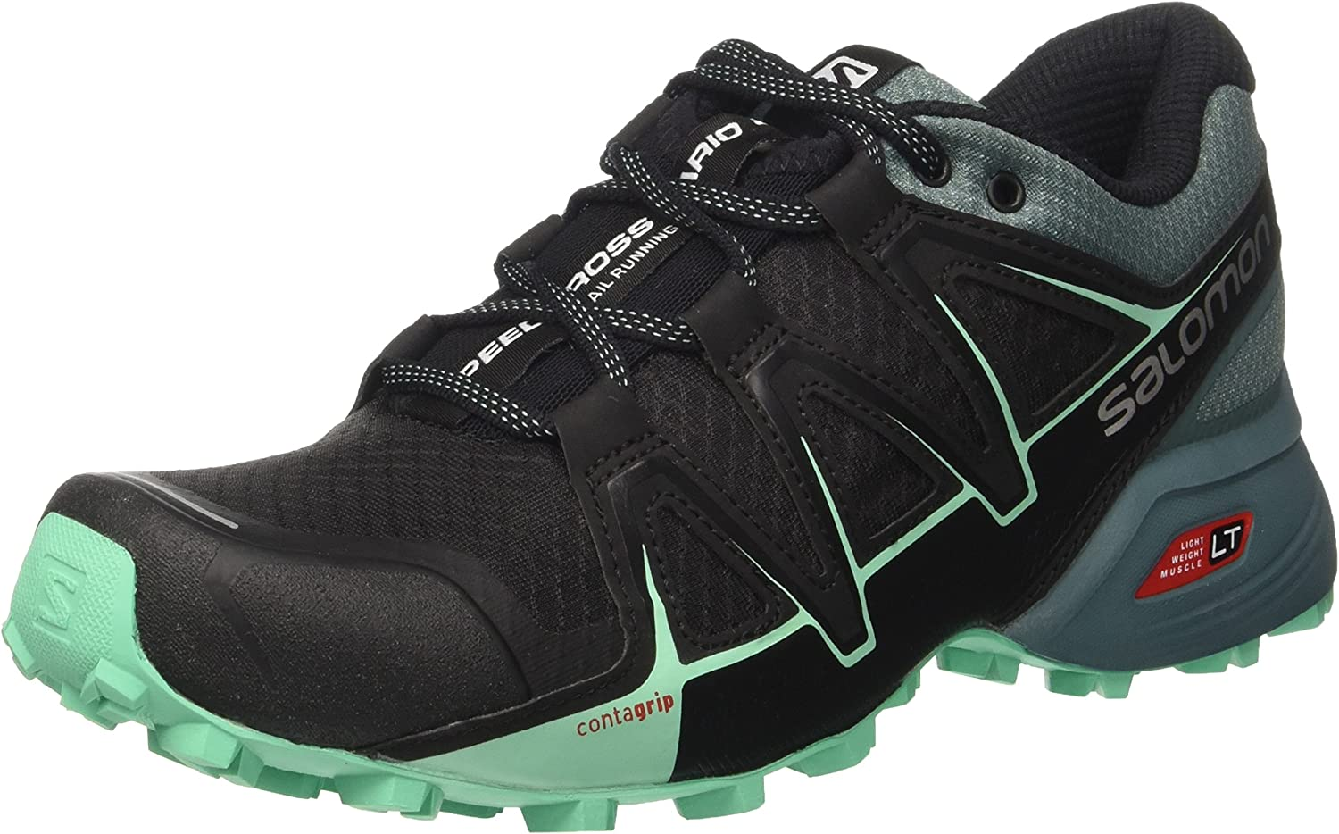 Salomon Speedcross Vario 2 W, Zapatillas de Running Mujer, Negro (Black/North Atlant/Biscay Green 000), 45 1/3 EU: Amazon.es: Zapatos y complementos