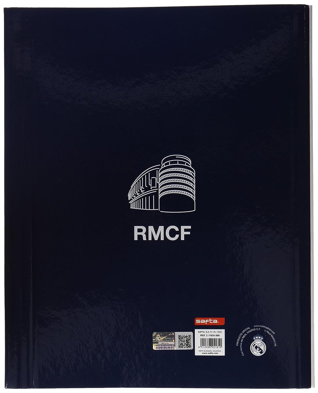 Safta SF-511654-069 - Carpeta folio clasificadora, 1ª equipacion temporada 2016/2017, diseño Real Madrid: Amazon.es: Oficina y papelería