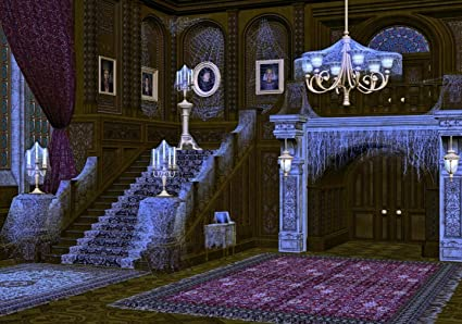 amazon com spooky mansion photo backdrop for photography obsolete
