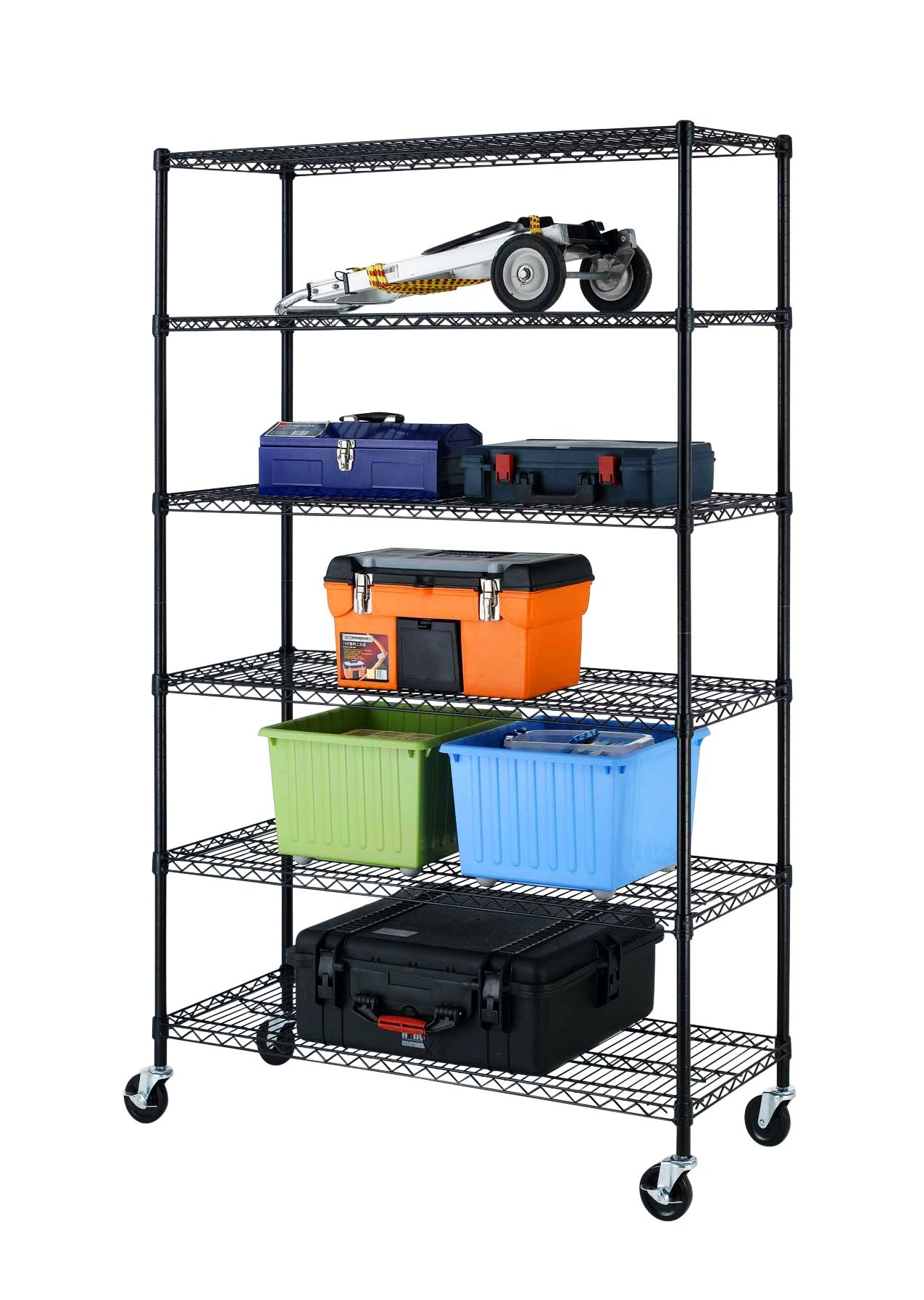 New 82''x48''x18'' 6 Tier Layer Shelf Adjustable Wire Metal Shelving Rack by BestOffice (Image #2)