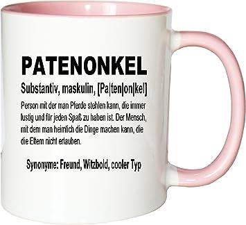 Mister Merchandise Kaffeebecher Tasse Patenonkel Definition Geburt