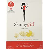 Skinny Girl along with Orville Redenbacher, Microwave Popcorn, Butter & Sea Salt, 10 Count, 15oz Box (Pack of 2)