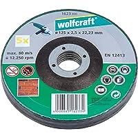 Wolfcraft 1623300 1 voordeelpakket slijpschijven steen ø 125 x 2.5 x 22.2 mm