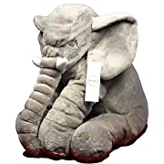 MIVERA Cartoon 60cm Large Plush Elephant Toy Kids Make Interest to Play with Stuffed Elephant Birthday Gift for Kids