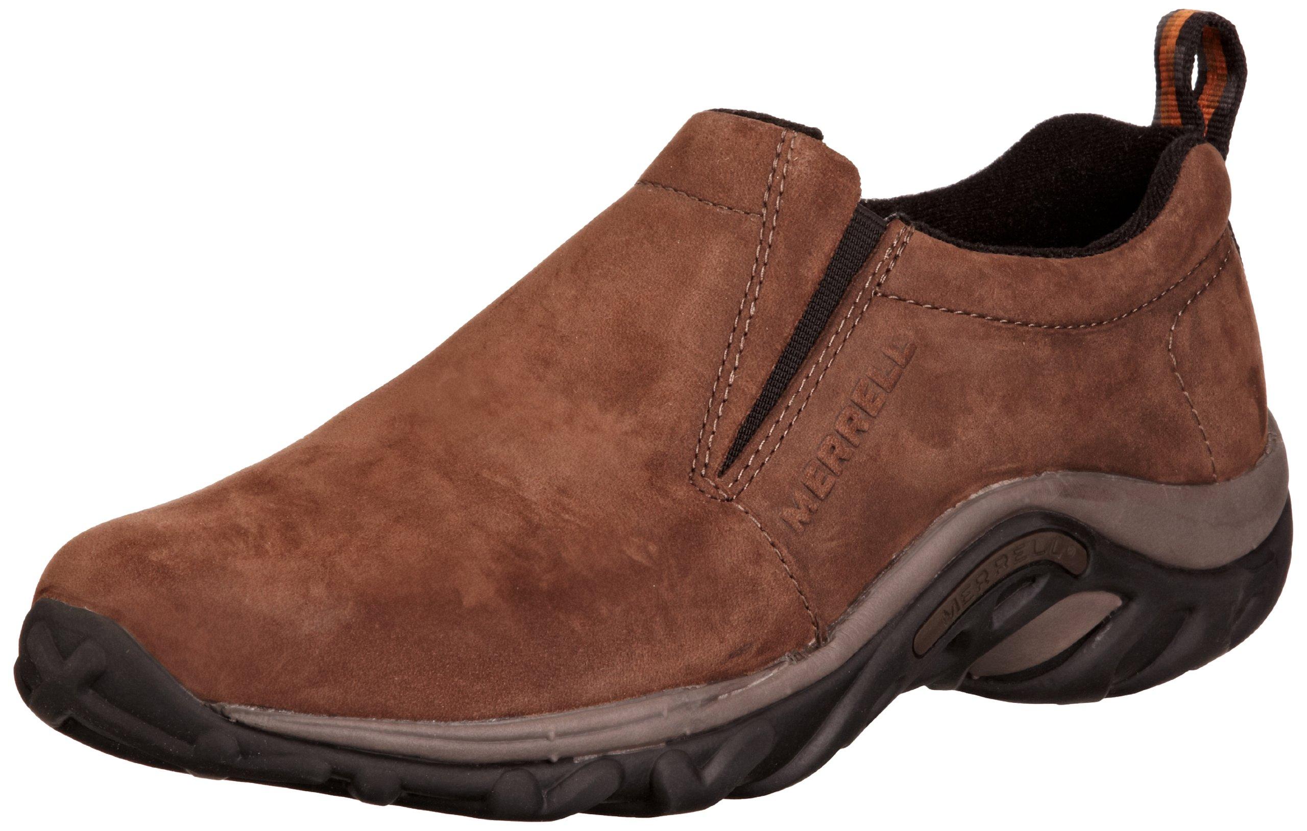 Merrell Men's Jungle Moc Nubuck Slip-On Shoe,Brown Nubuck,7 2E US