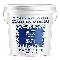 100% Pure Dead Sea Mineral Bath Salt 5Lb Frag Free