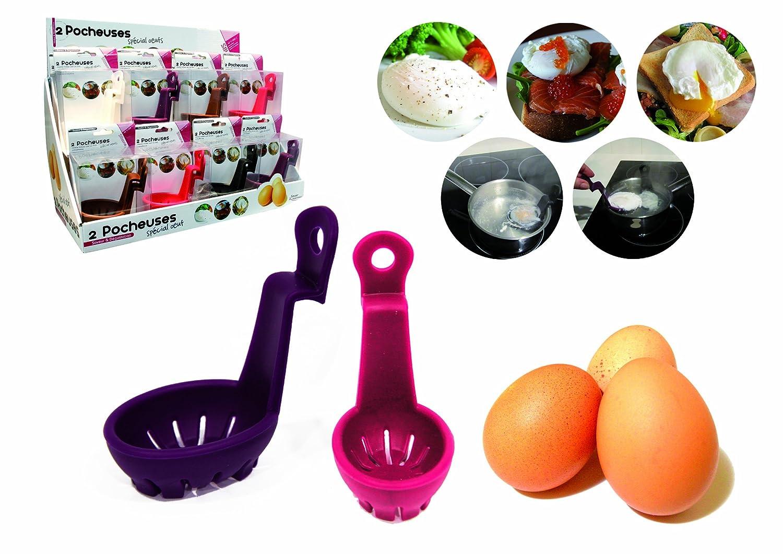Basicut 2 unidades, de silicona Accesorio para pochar huevos