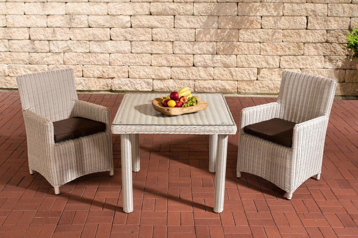 Gartenmöbel, Gartenmöbel-Set, Sitzgruppe Dorado K100, perl-weiß ...