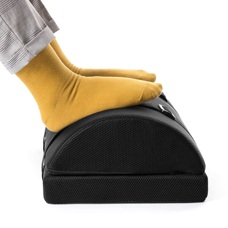 Nekmit Adjustable Foot Rest Non-Slip Ergonomic Multifunctional Firm Foam Half-Cylinder for Home and Office