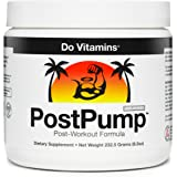 PostPump - Clean Post Workout Recovery Drink - Muscle Builder with Creapure Creatine Monohydrate, L Carnitine, BCAA - Certified Vegan Paleo KETO Non-GMO (30 Servings)