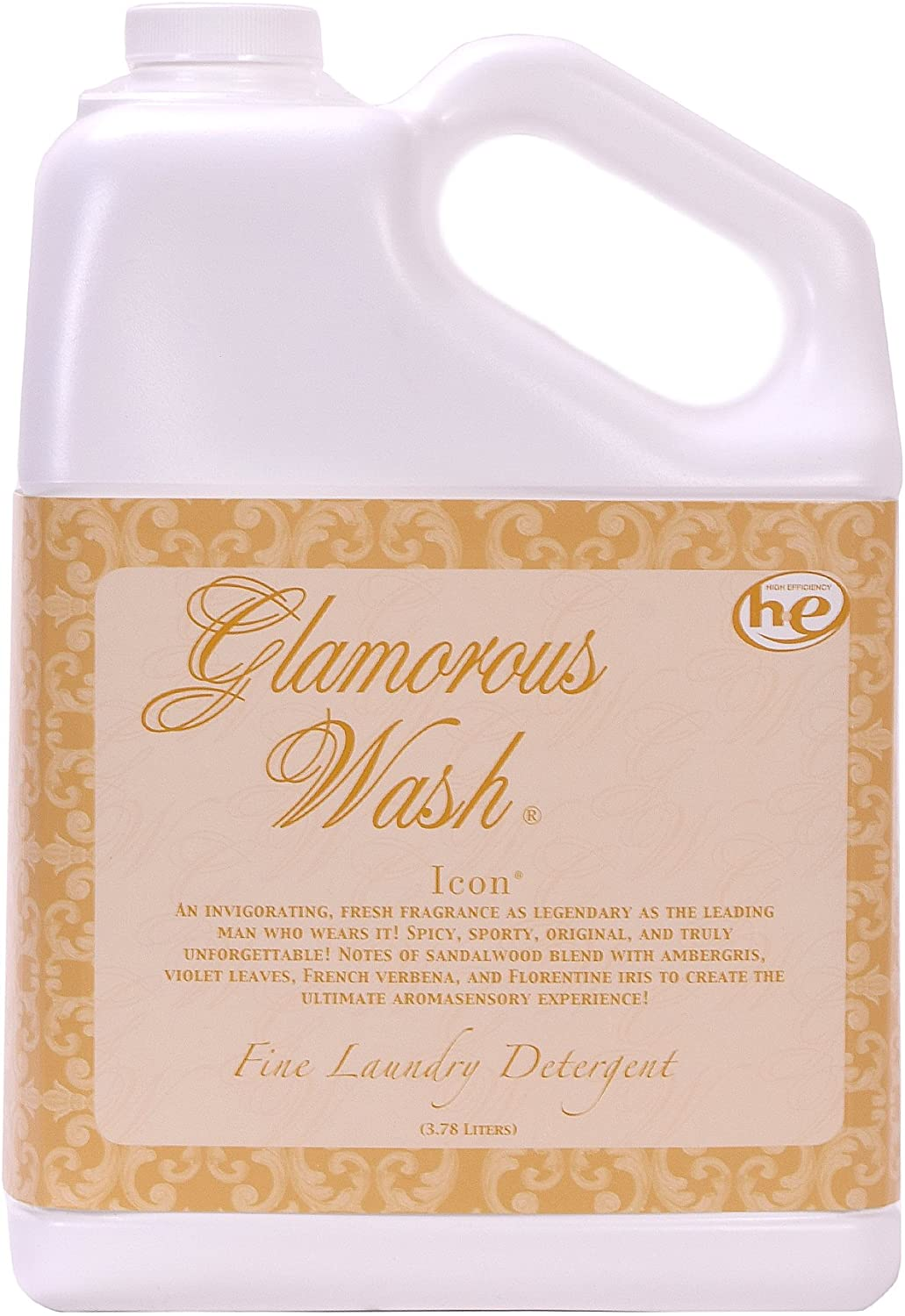 ICON Fragrance Glamorous Wash 128 oz (Gallon) Fine Laundry Detergent by Tyler Candles