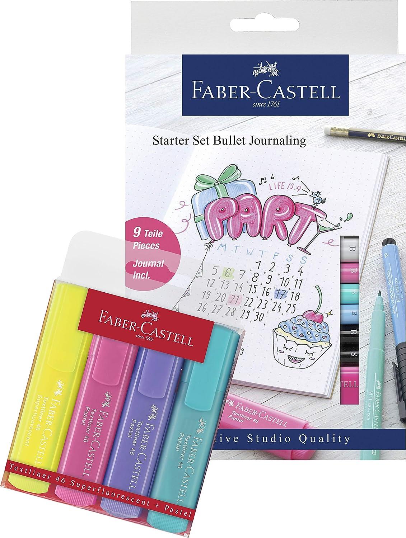 Faber-Castell Set Bullet Journaling 17-teilig, Pastell