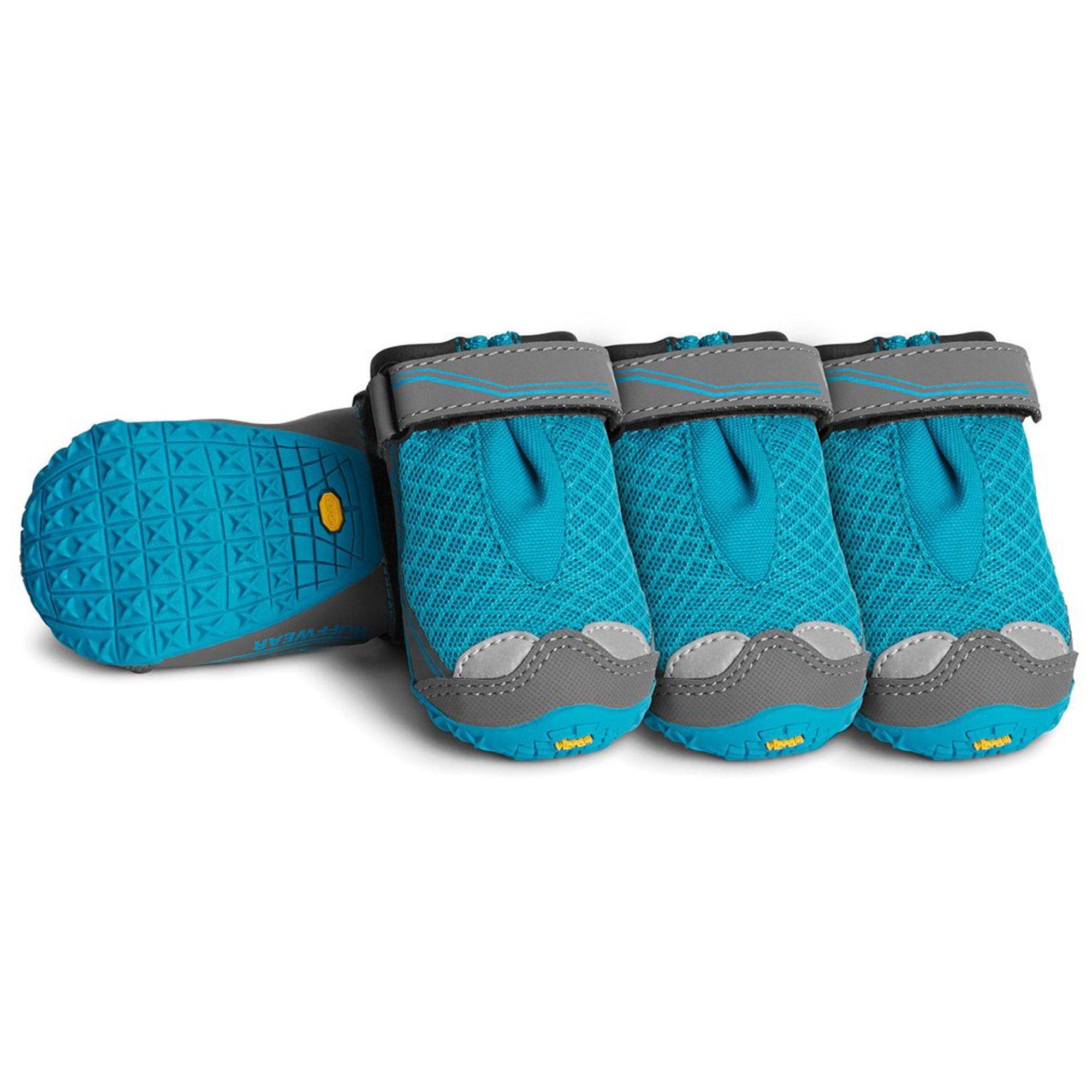 RUFFWEAR - Grip Trex, All-Terrain Paw Wear for Dogs, Blue Spring, 1.5 in (Set of 4)
