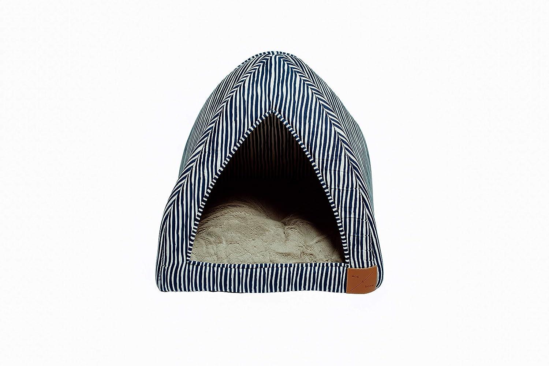 MOG & BONE Cat Igloo bluee Stripe Print