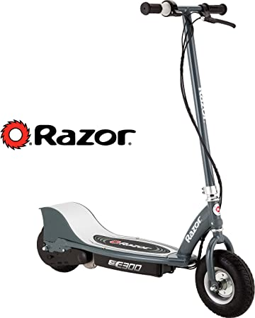 Razor E300 Durable Adult & Teen Ride-On 24V Motorized High-Torque Power Electric Scooter, Speeds up to 15 MPH with Brakes and Pneumatic Tires