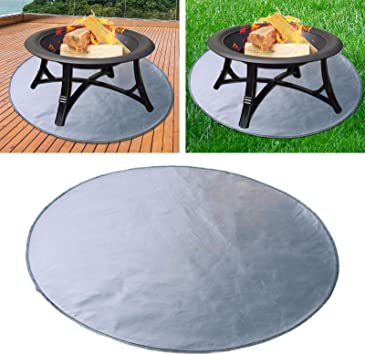 24 Fireproof Mat Deck Protection Fire Pit Floor Mat Ground Cover Bbq Grill Mat Fire Retardant Fireproof Blanket Ember Pad Protect Wood Decking Porch Amazon Co Uk Diy Tools