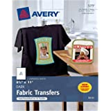 Avery InkJet Iron-On Dark cfaJi T-Shirt Transfers, White, 5 Count (2 Pack)