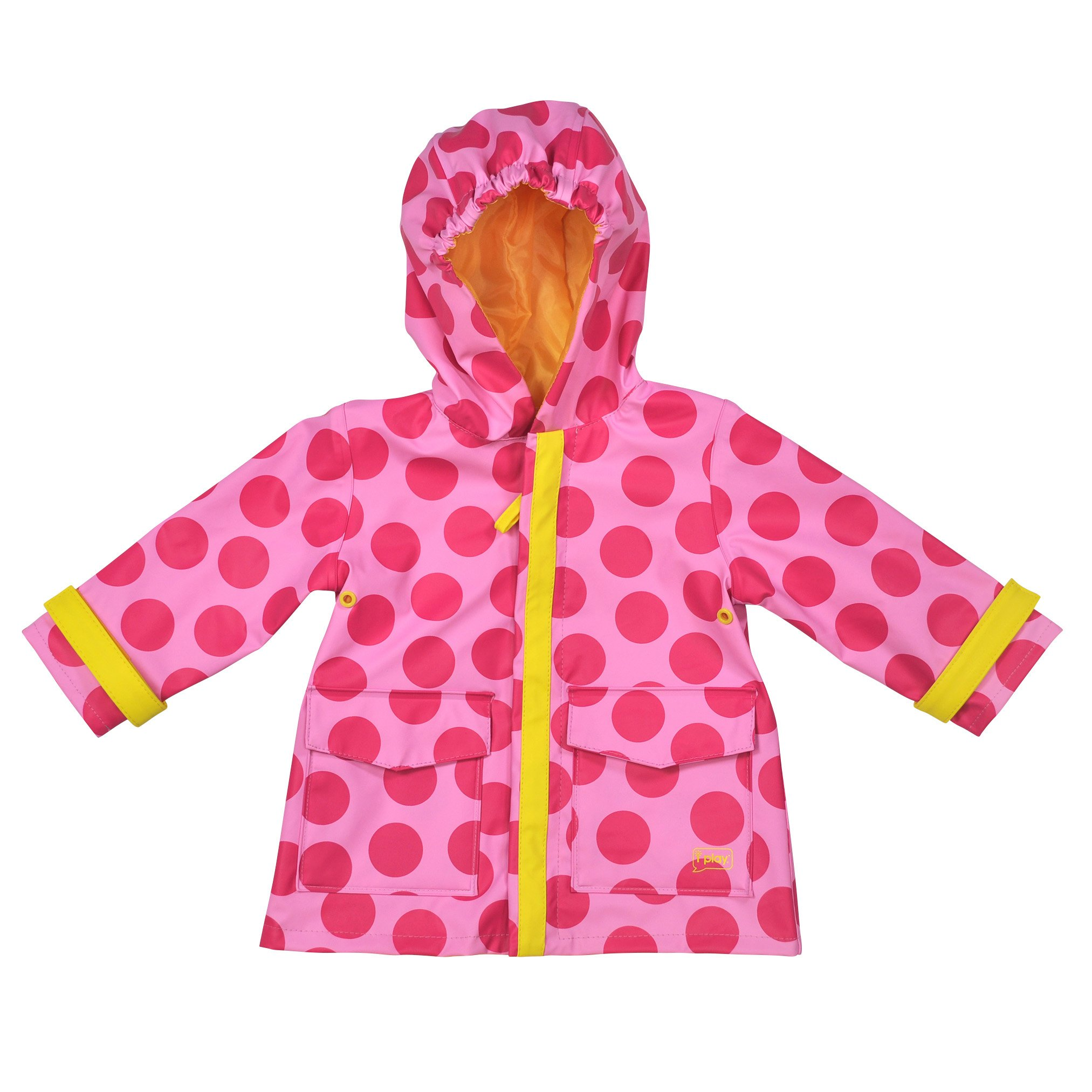i play. Toddler Midweight Raincoat, Pink Dots, 3T-4T by i play.