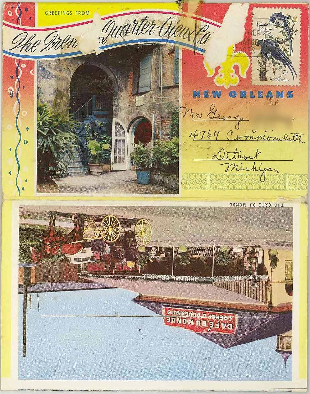 The French Quarter New Orleans Lousiana 1961 Souvenir Postcard