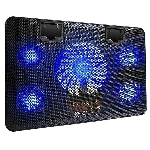 9 opinioni per BestFire Laptop Cooling Pad raffreddamento Chill Mat con 5 ventole silenziose
