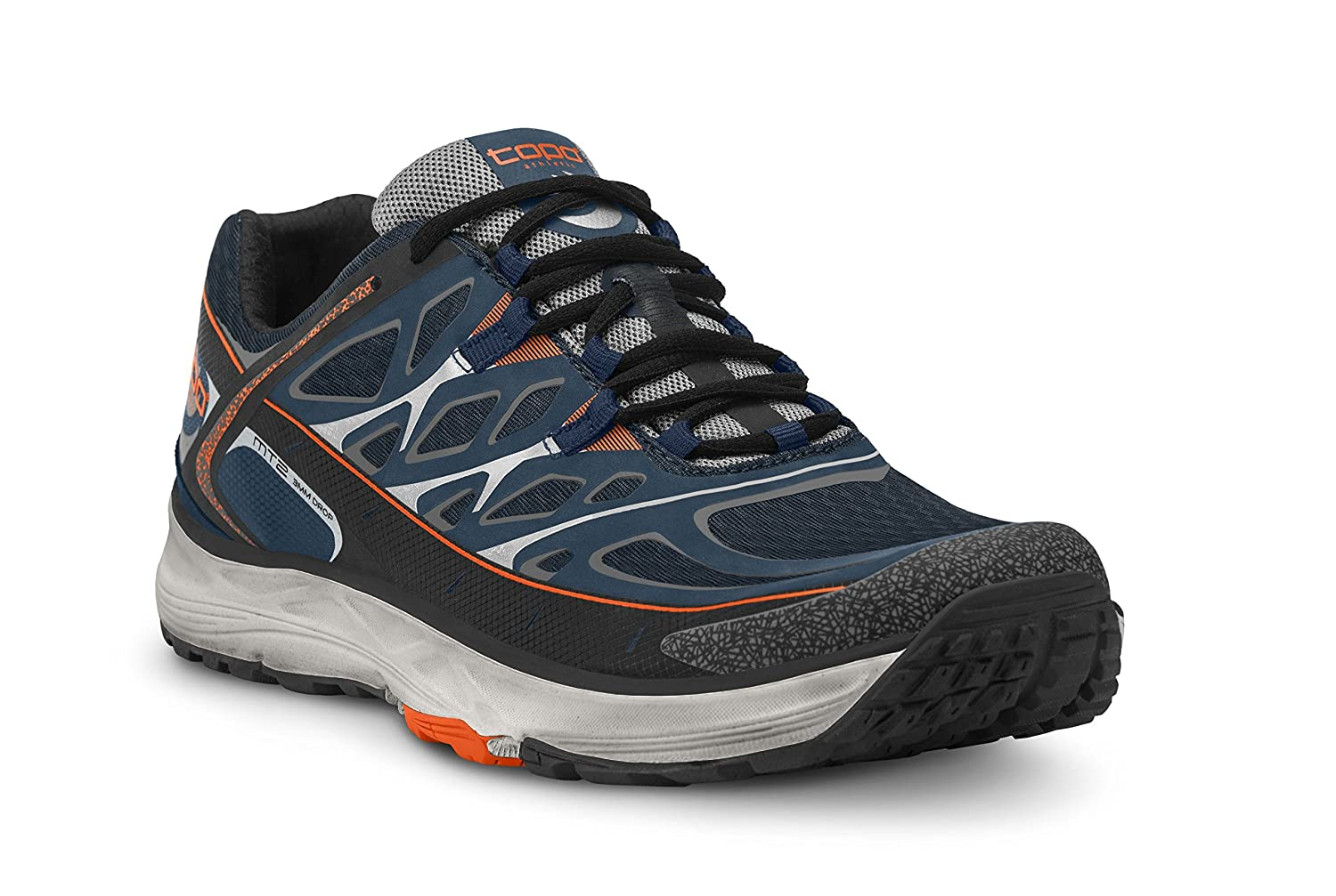 Topo Athletic MT2 Running Shoe - Men's B06XPTT12T 7 D(M) US|Navy/Grey