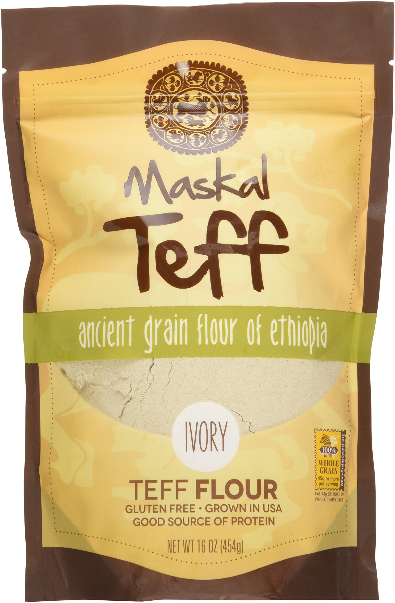 Amazon.com : Maskal Teff, Brown Grain, 16 Ounce : Grocery