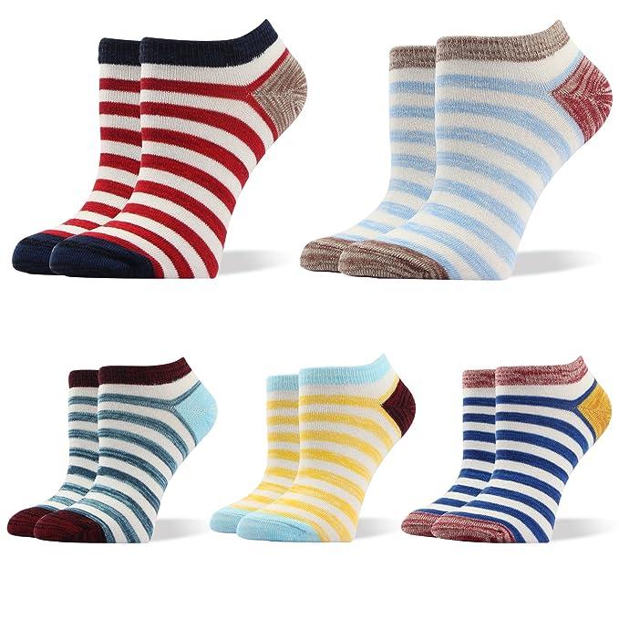 RioRiva Calcetines cortos para Deportivas y Botines para Mujer, (Pack de 5) Socks