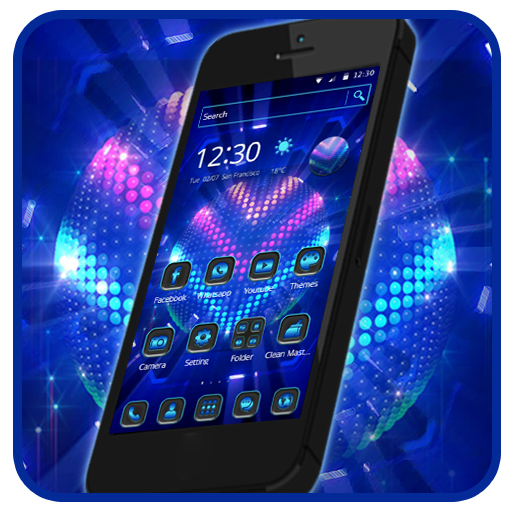 Bright Led Lights 2D Android Theme   Wallpaper