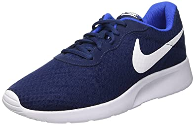 Nike Men's Midnight Navy White Game Royal Mesh Running Shoes - 10