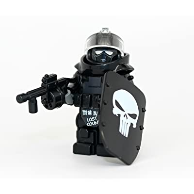 Modern Brick Warfare Custom Juggernaut Army Assault Soldier Call of Duty Skull Custom Minifigure: Toys & Games