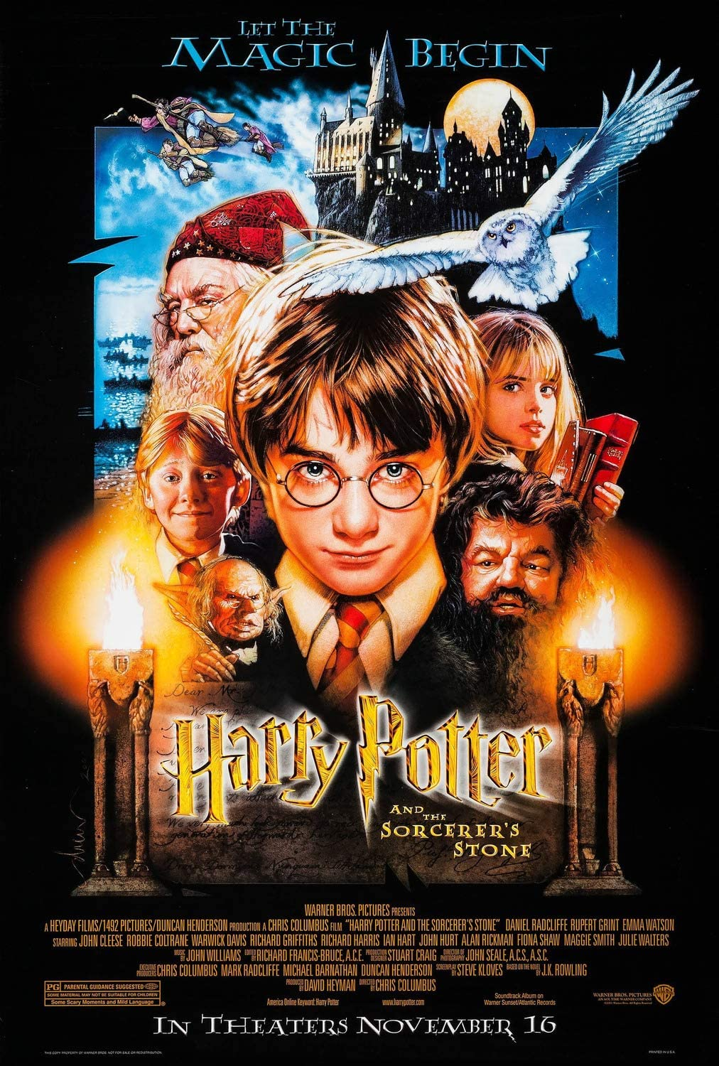 HARRY POTTER /& THE PHILOSOPHER'S STONE Movie PHOTO Print POSTER Textless Art 004