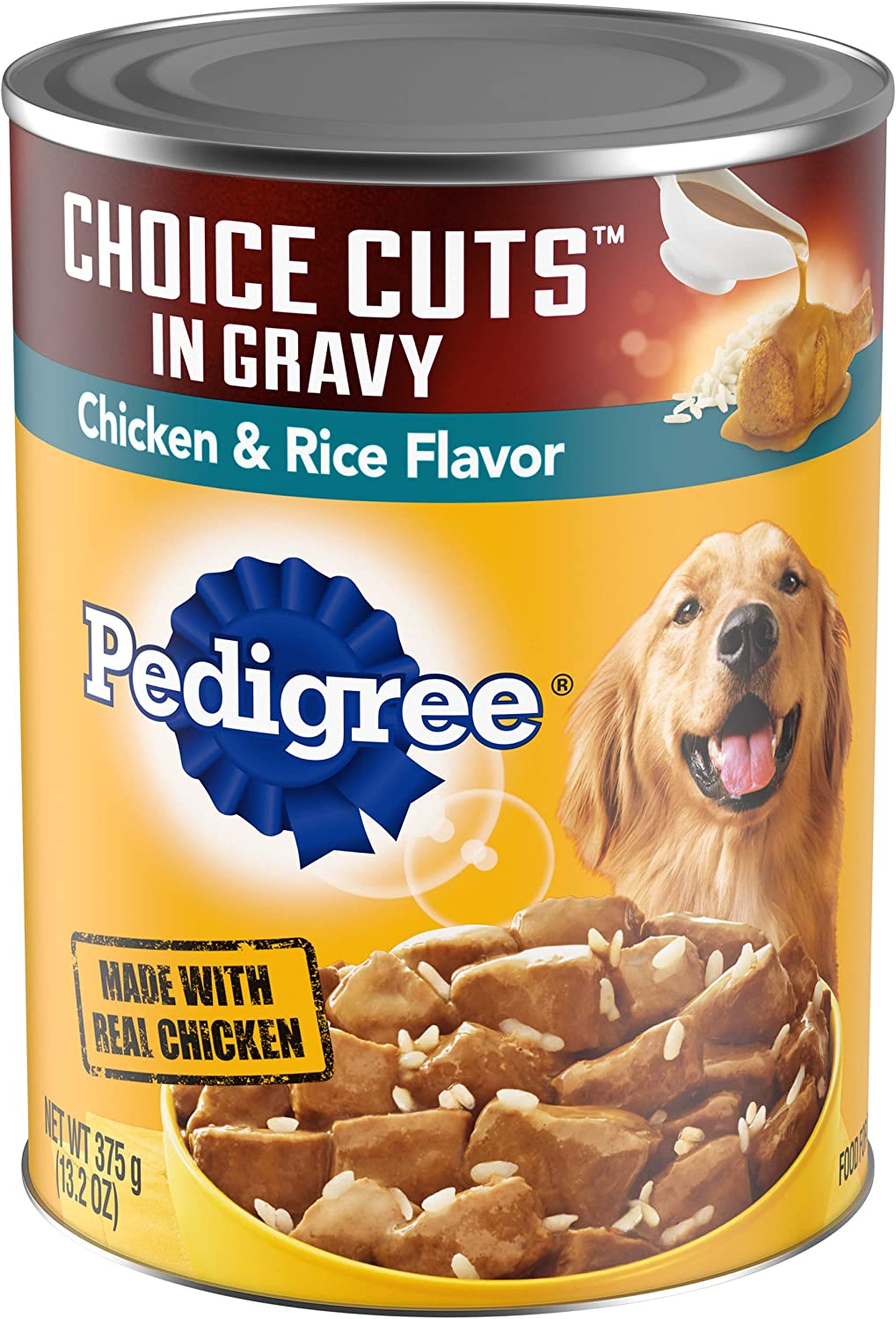 PEDIGREE CHOICE CUTS IN GRAVY Adult Canned Wet Dog Food, 13.2 oz. (Pack of 12)