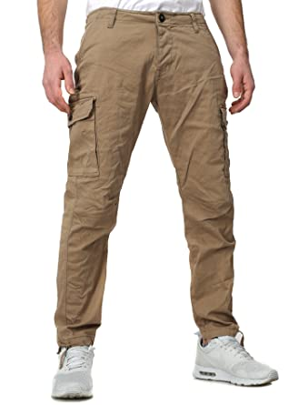 cb9e92a92b015b Redbridge Men Cargo Jeans Adventure Slim Fit Section Olive-Green W31/L32:  Amazon.co.uk: Clothing