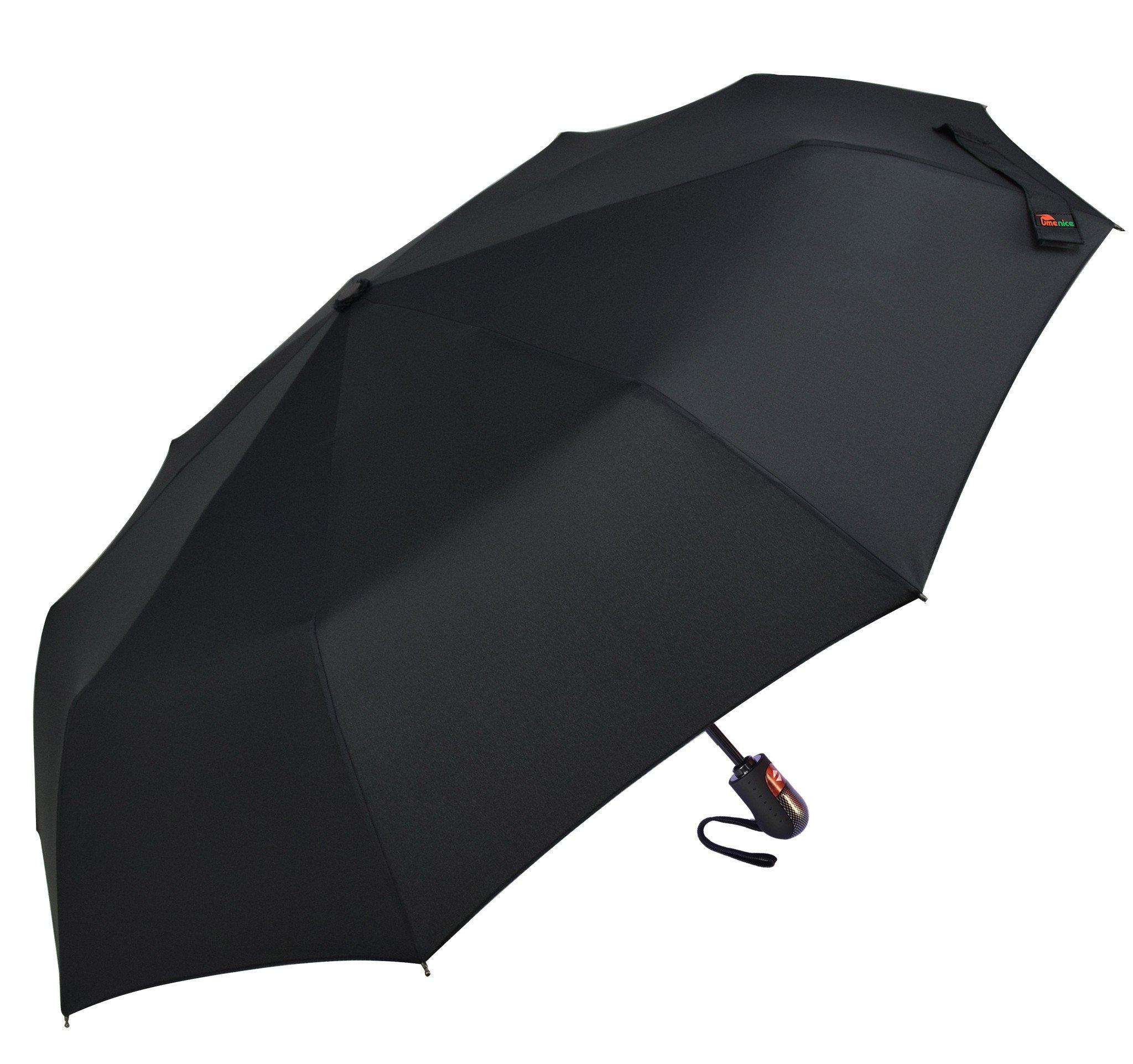Umenice Auto Open And Closed travel umbrella 9 Ribs Black by Umenice (Image #2)
