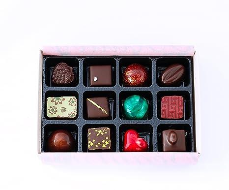 Ilze S Chocolat Gift Box Of 12 Artisan Chocolates Beautiful