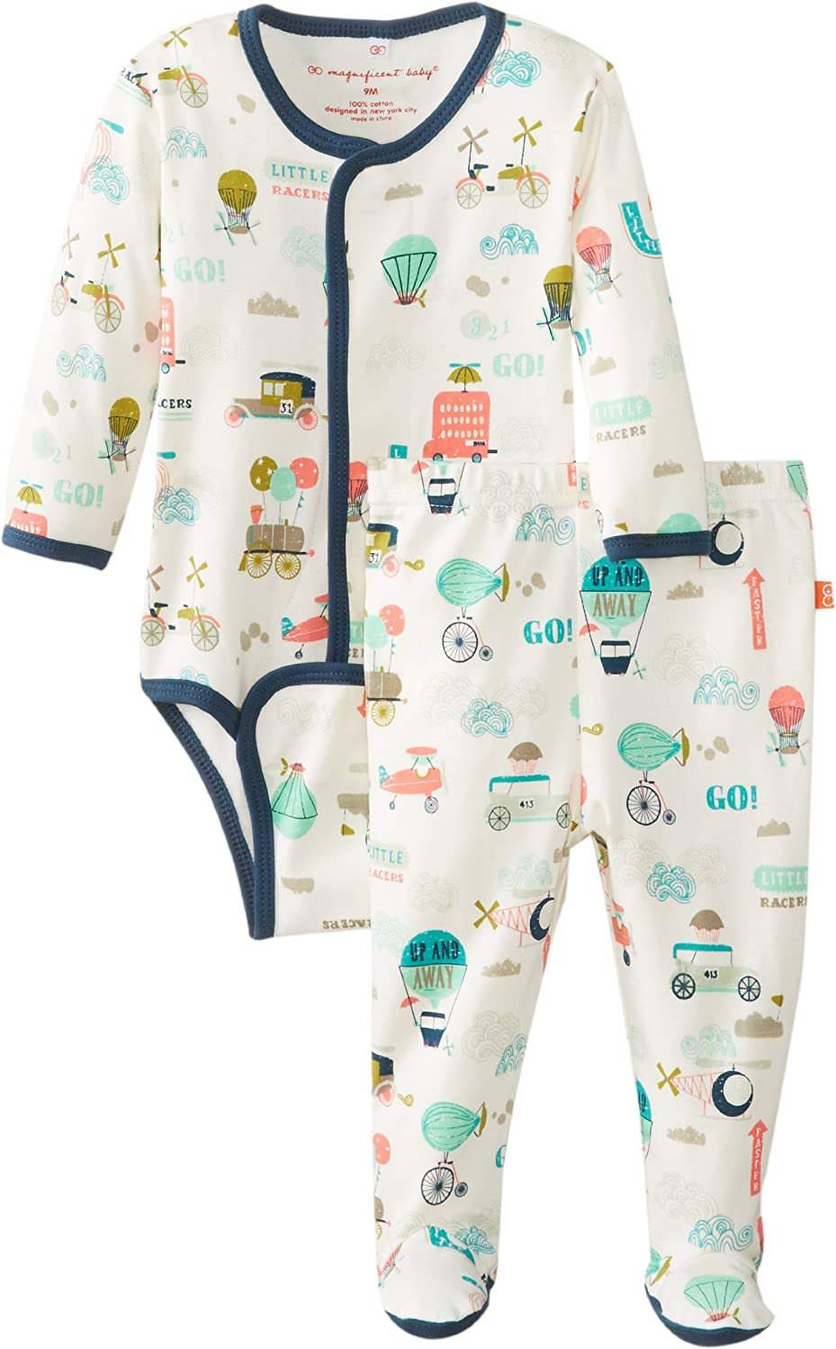 Magnificent Baby Baby-Boys Newborn Long-Sleeve Bodysuit and Pants Set
