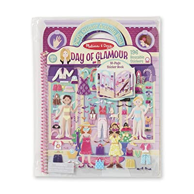 Melissa & Doug Puffy Sticker Activity Book--Day of Glamour: Melissa & Doug: Toys & Games
