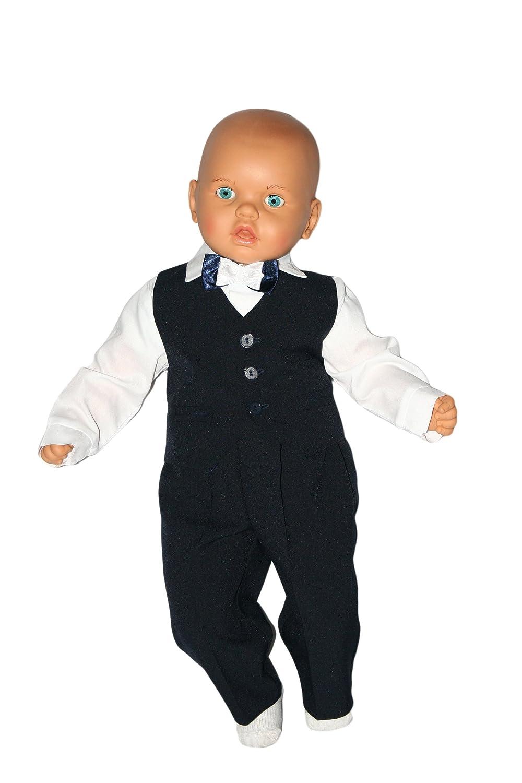 Marineblau-Wei/ß Taufanzug Baby Junge Kinder Kind Taufe Anzug Hochzeit Anz/üge Festanzug 4tlg