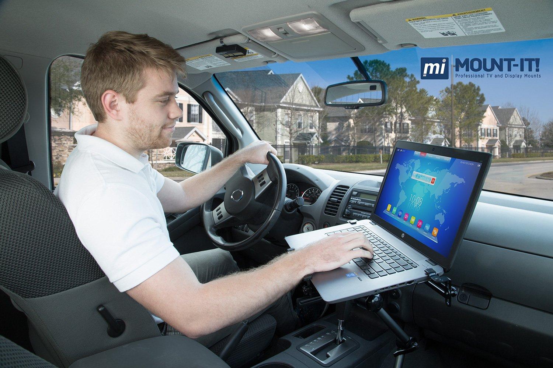 Amazon.com: Mount-It! Laptop Vehicle Mount, No-Drill Computer Seat ...