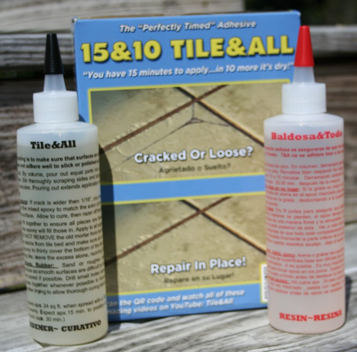 15&10 Tile&All 16 oz  (Gloves and mixing sticks only included in this kit)  Flowable in order to get into the narrowest of hairline stone counter top